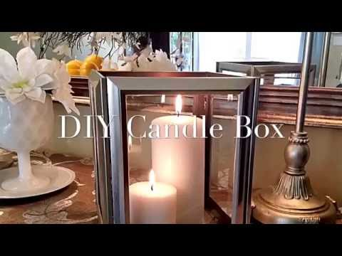 How To Create A Candle Lantern Using Picture Frames From The Dollar