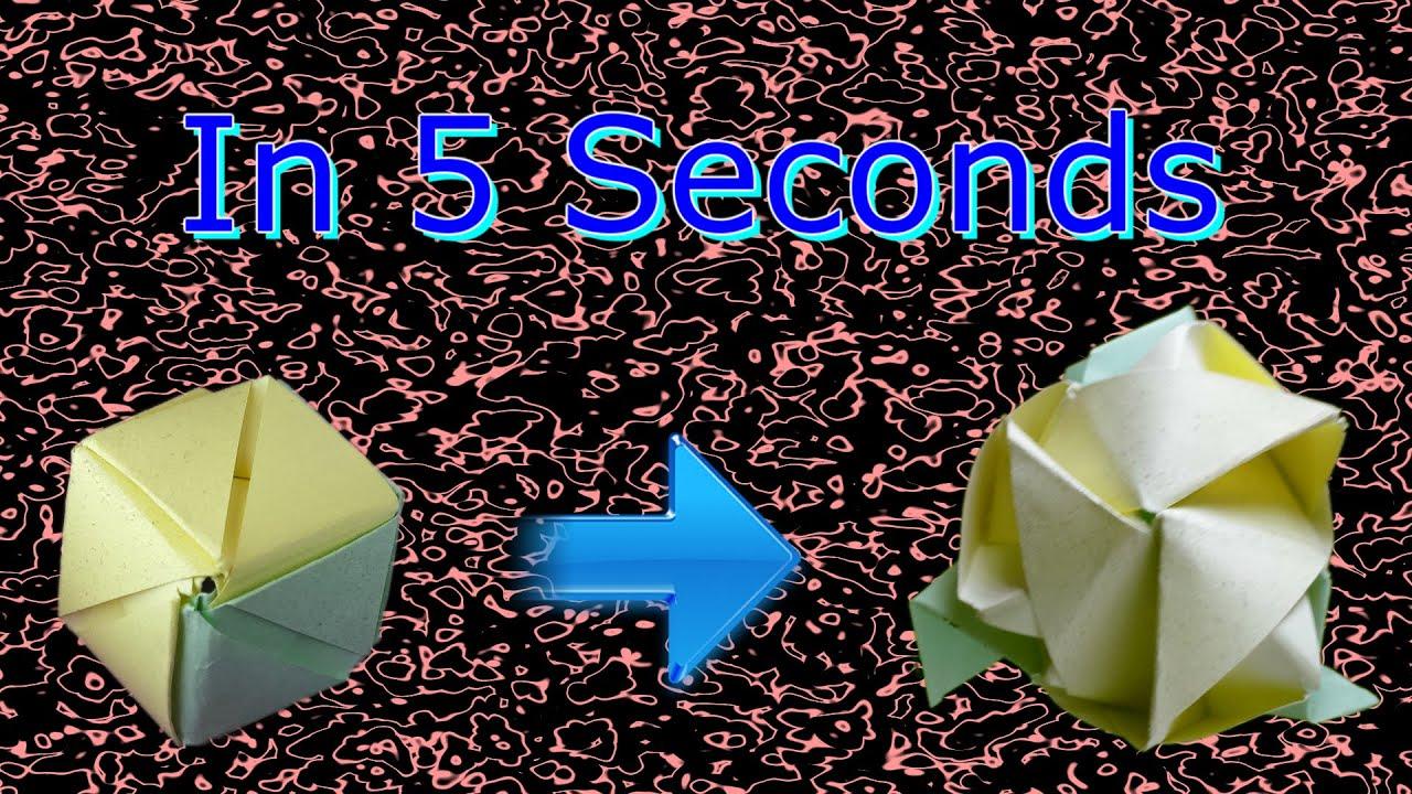 Origami Magic Rose Cube - YouTube - photo#45