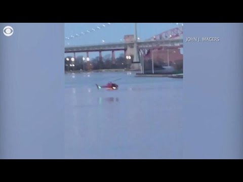 Audio of mayday call before helicopter crashed in East River