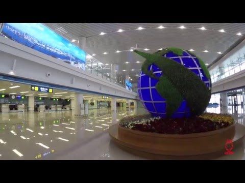 Inside the new Pyongyang Sunan International Airport in North Korea