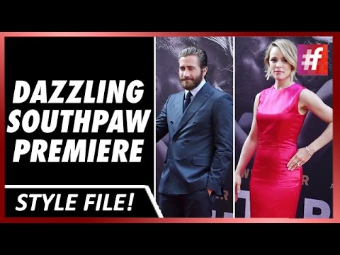 #fame hollywood - Rachel McAdams And Jake GyllenhaalRock The Southpaw Premiere