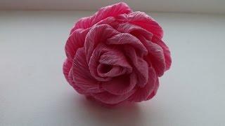 роза из гофрированной бумаги способ 1(, 2015-10-30T06:06:54.000Z)