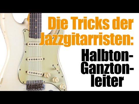 Jazz Gitarrenunterricht - Halbton-Ganztonleiter