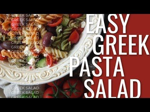 Easy Greek Pasta Salad