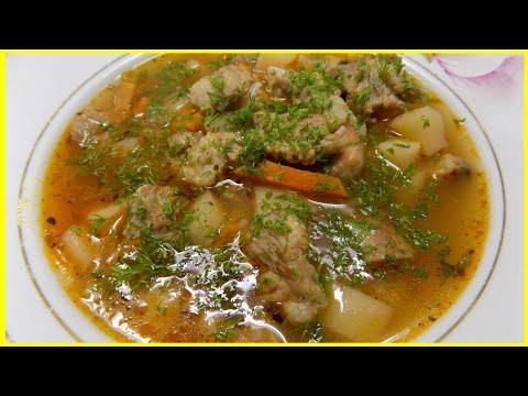 Вкусный гречневый суп с мясом