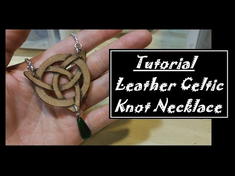 DIY Leather celtic knot necklace
