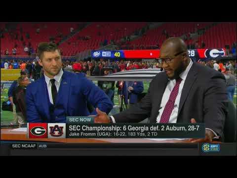 SEC Now SEC Champ Post Game 2017 #6 UGA vs #2 AUB