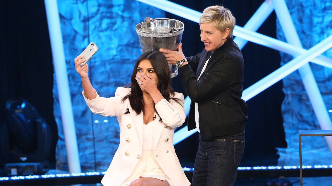 Watch Kim Kardashian Take the Ice Bucket Challenge (and Snap aSelfie)