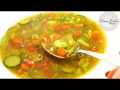 BEST Clear Vegetable Soup Recipe with Bone Broth in 15 Minutes