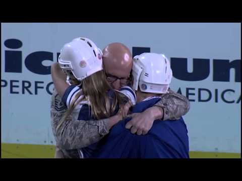 US Airman returns home, surprises family at hockey game