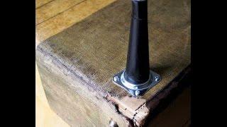 Как из старого чемодана сделать столик