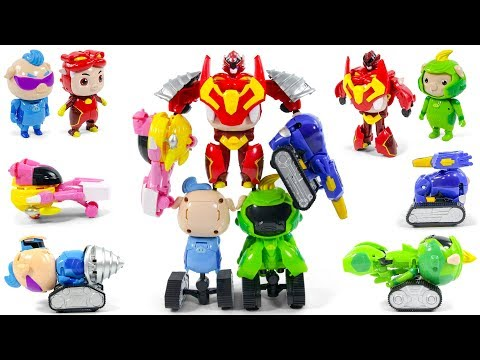 GG Bond SuperStar Pet Five Piggy Team MegaZord Robot Tank Drill Ships Transformation