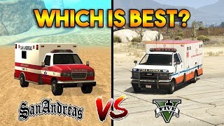 GTA 5 AMBULANCE VS GTA SAN ANDREAS AMBULANCE : WHICH IS BEST?