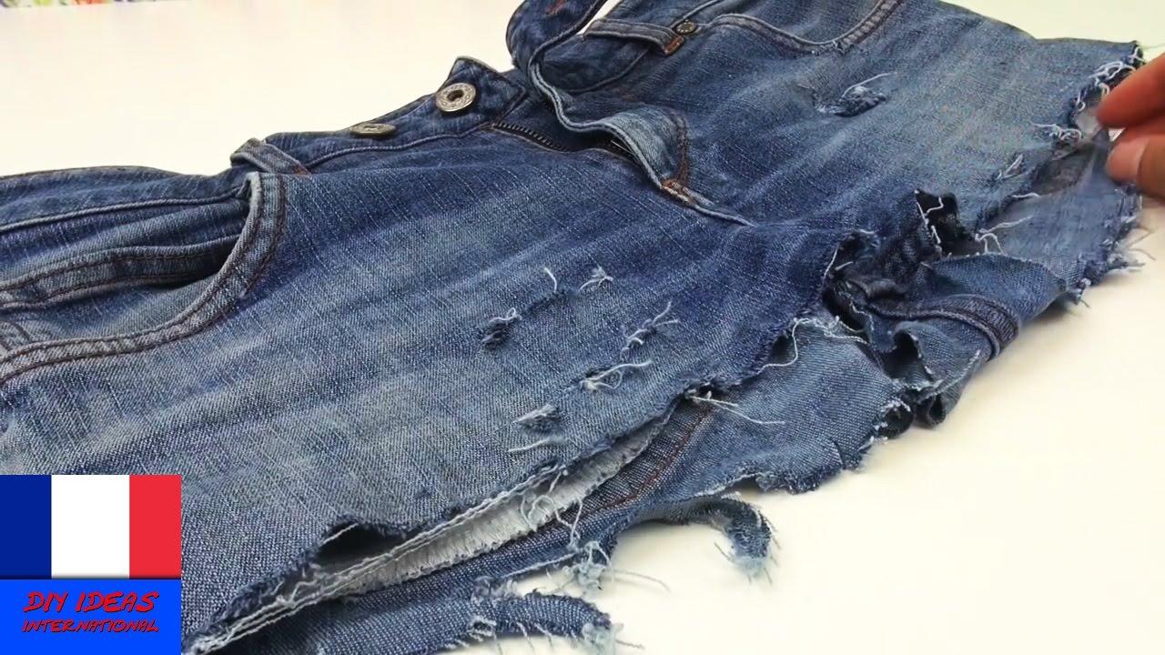 comment faire shorts partir de vieux jeans r cup et cr ation habit d 39 t diy youtube. Black Bedroom Furniture Sets. Home Design Ideas
