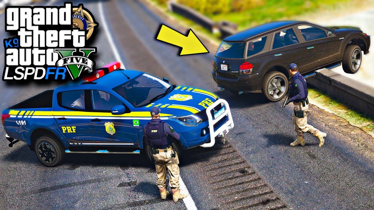 GTA V : MOD POLICIA - L200 DA PRF NA PERSEGUIÇÃO NAS RODOVIAS! ( INSANO DEMAIS )