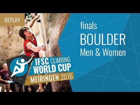 IFSC Climbing World Cup Meiringen 2016 - Bouldering - Finals - Men/Women