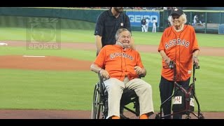 Ex President George Bush and His Wife Barbara Are Guests of Honor in ALDS