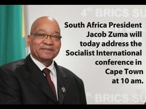 Zuma address Socialist International conference