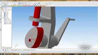 """Компас 3D уроки - привязка """"кулачок-толкатель"""""""