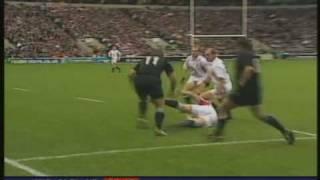 Jonah Lomu puts Phil Vickery on his arse!