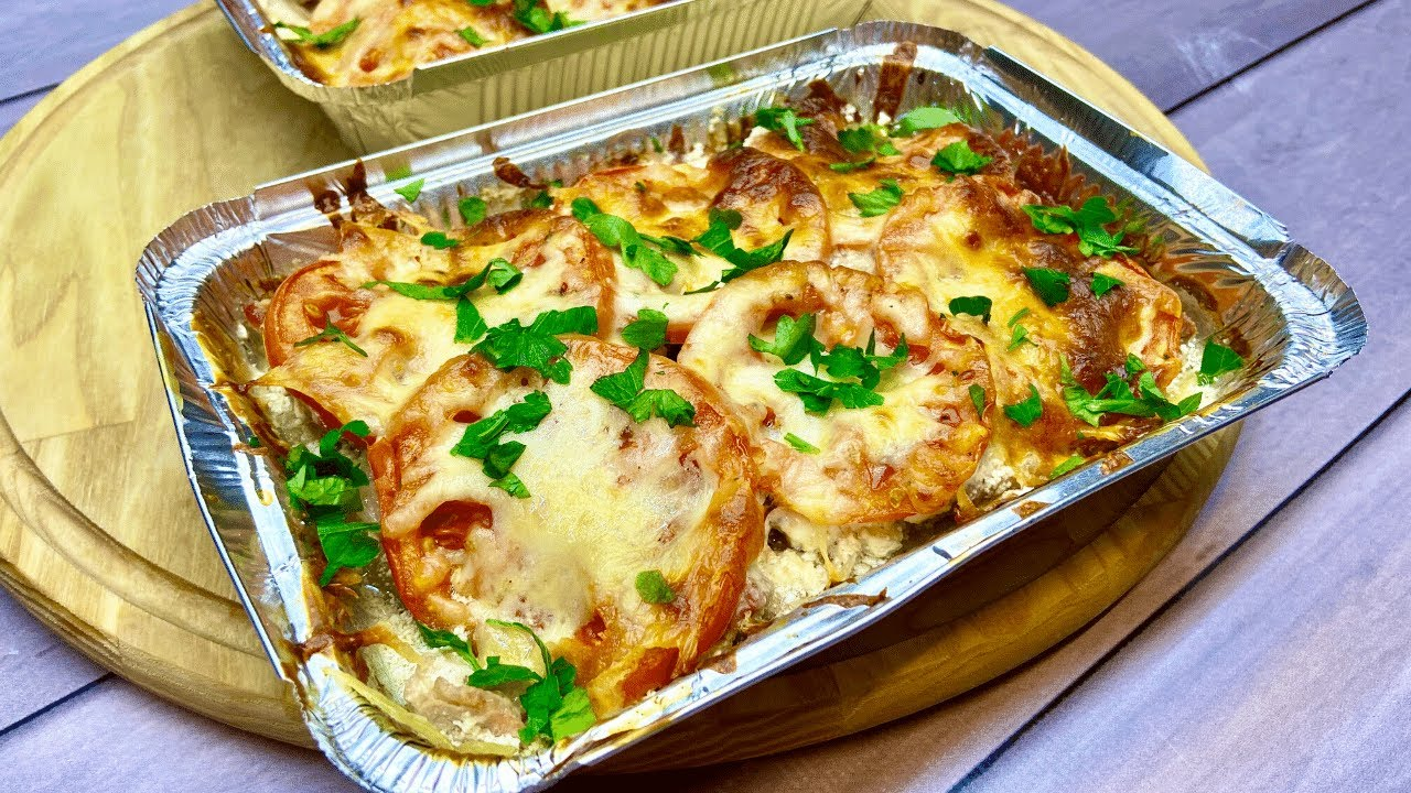 Healthy Dinner Idea ~ Oven Baked Potatoes with Turkey, Onion and Tomatoes | Easy Dinner Recipe