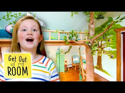 Indoor TREEHOUSE Room Transformation! | Get Out Of My Room | Universal Kids