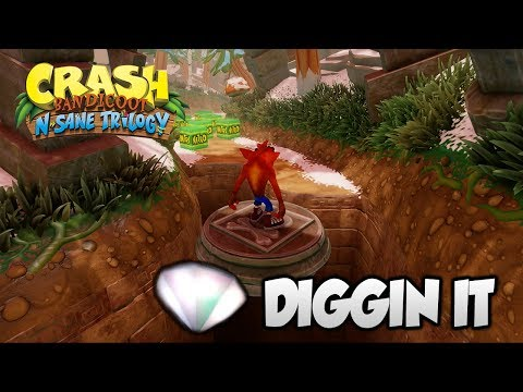 """Crash Bandicoot 2 - """"Diggin It"""" 100% BOTH Clear Gems And All Boxes (PS4 N Sane Trilogy)"""