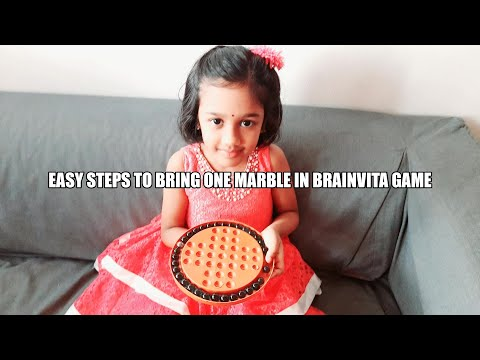 How to play Brainvita game. Easy Trick to bring one marble.  