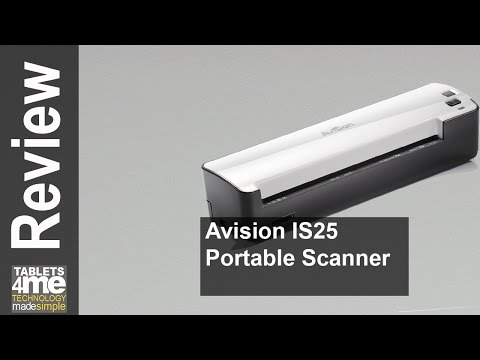 Avision IS25 Portable Scanner For Document And Photo, Battery Operated With SD Card, USB Connection