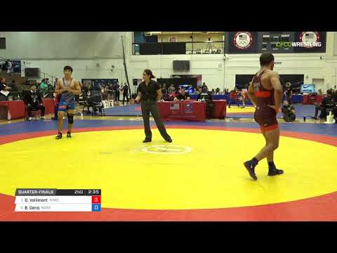 Mens Freestyle 74 Quarter-Finals - Dan Vallimont (NYAC) vs. Byung Min Gong (Kore)