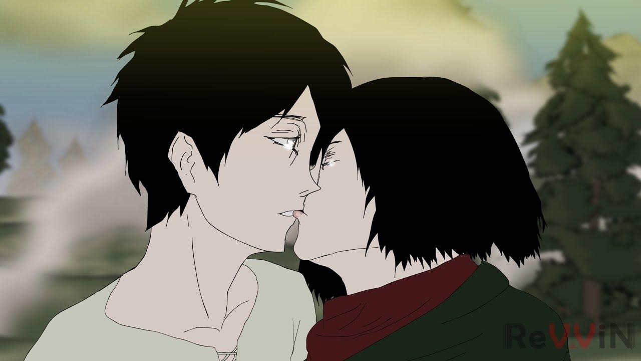 Mikasa kisses Eren [No shy people allowed]