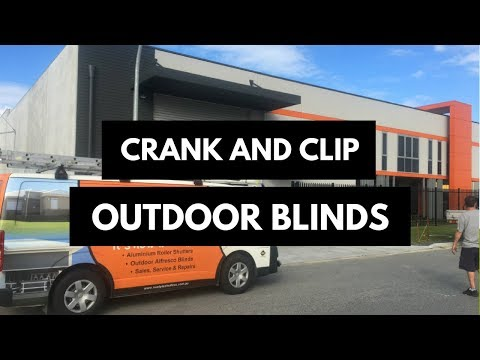 Crank and Clip Outdoor Blinds