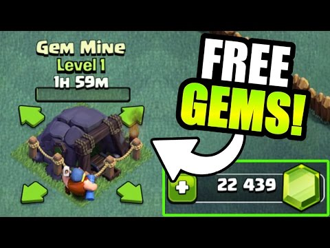 Thumbnail: HOW MANY FREE GEMS DOES THE GEM MINE GIVE YOU IN CLASH OF CLANS!? - BUILDERS VILLAGE GEM SPREE!
