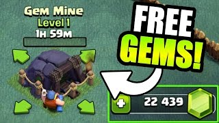 HOW MANY FREE GEMS DOES THE GEM MINE GIVE YOU IN CLASH OF CLANS!? - BUILDERS VILLAGE GEM SPREE!