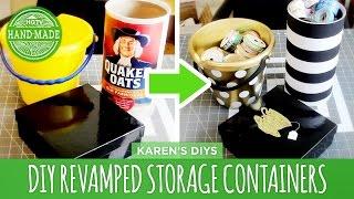 Diy Revamped Storage Containers - Hgtv Handmade