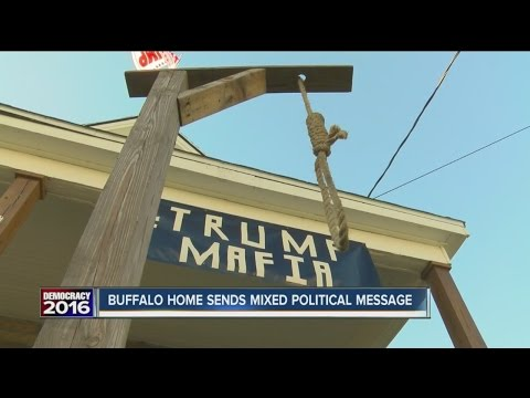 Buffalo home sends mixed political message