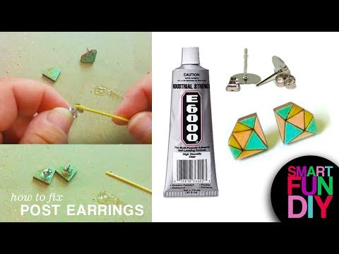 How to Fix Post Earrings - fix broken earrings with this life hack😀! DIY Jewelry with E6000 glue👍!
