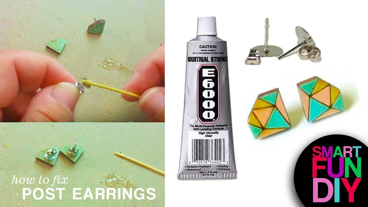 How To Fix Post Earrings Fix Broken Earrings With This