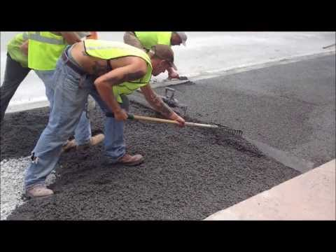 Pervious Concrete installation process @ Lauderdale-By-The-Sea