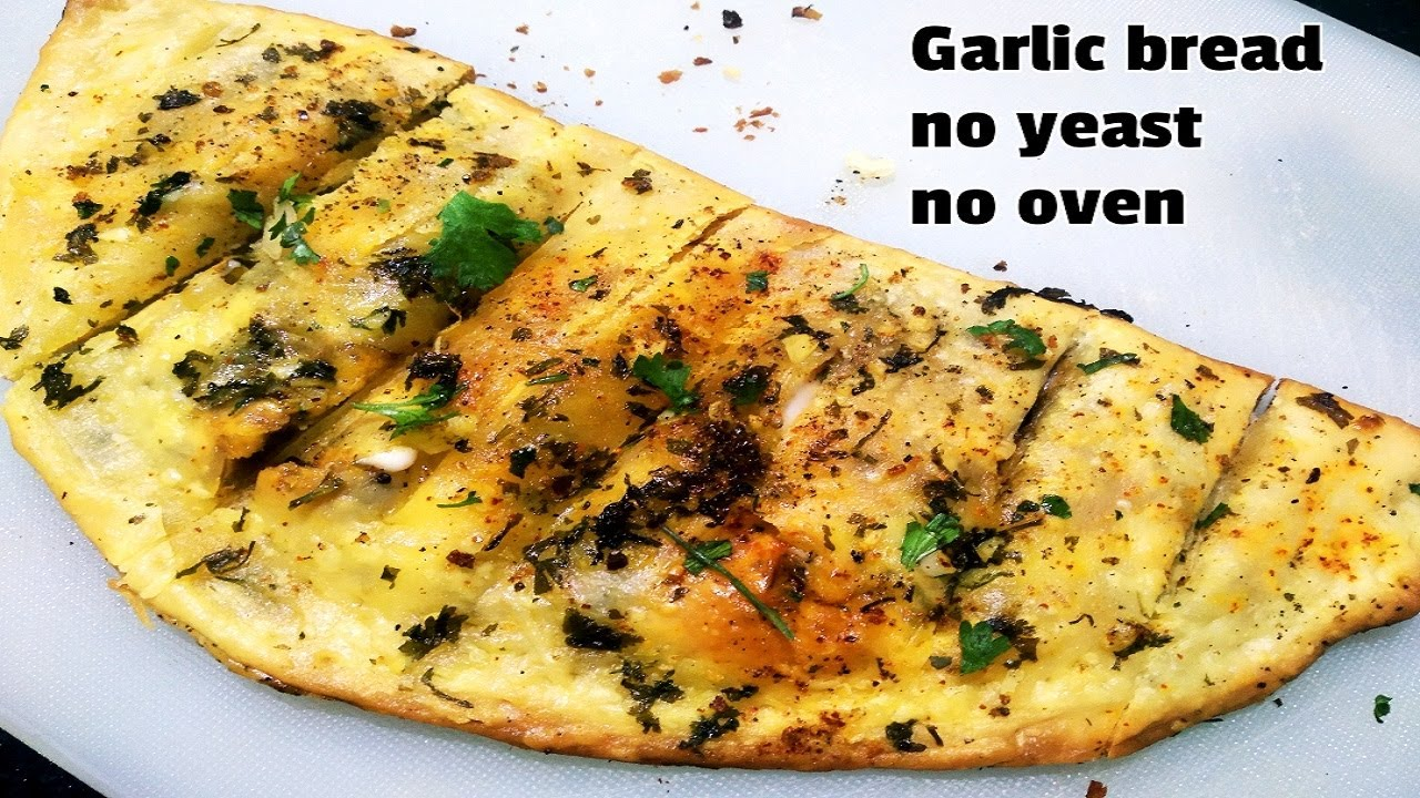 No Yeast Garlic Bread Recipe in Lock-Down | Eggless ...