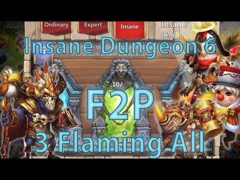 Wallawalla: 3-Flaming All Insane Dungeon 6 Without Anubis Espirita Reaper | F2P