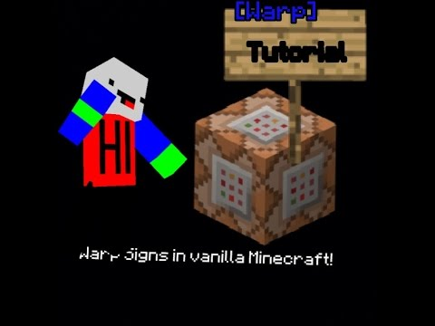how to make warps in vanilla minecraft