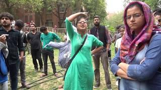 JNUSU Vice President Sarika Chaudhary speaks against 300% Fee Hike of Prospectus