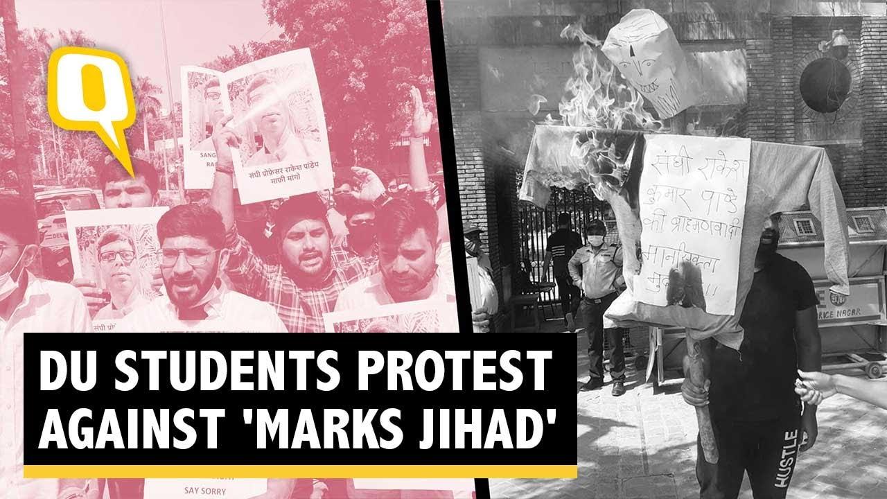 Download Delhi University Students Protest Against Islamophobic Professor   The Quint