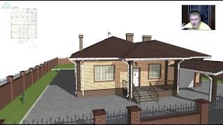 Красивый одноэтажный жилой дом с  баней и гаражом  C-279-ТП(, 2017-09-05T07:45:33.000Z)