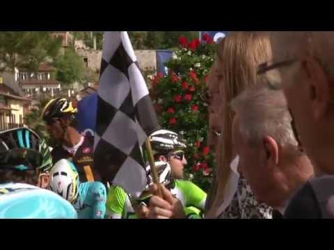 Giro del Trentino 2014: stage2 start in Limone sul Garda