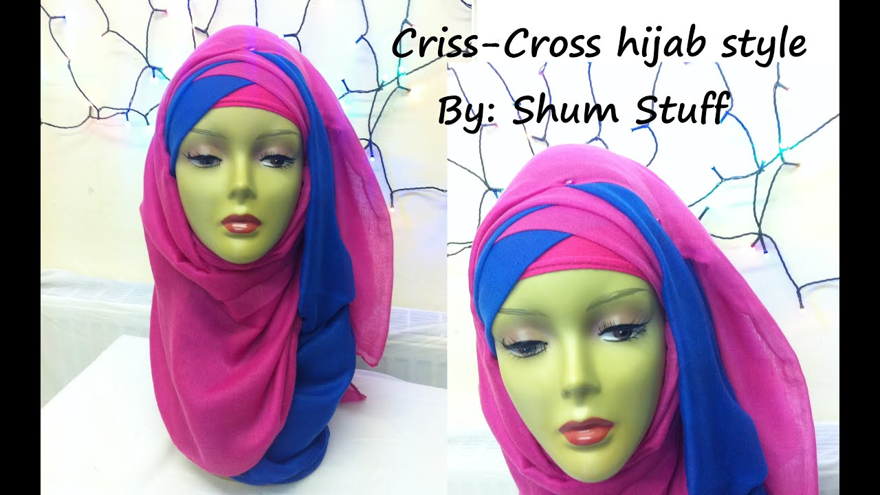 Criss Cross Hijab Style Tutorial Youtube