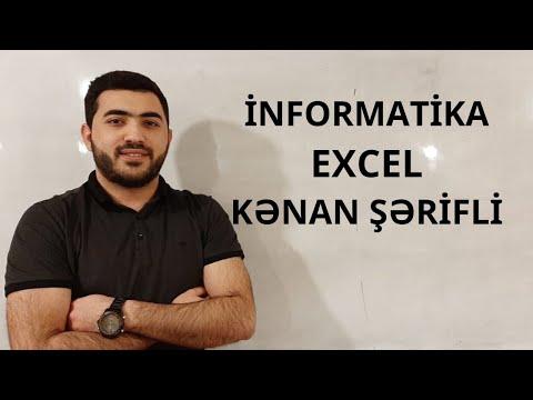 İNFORMATİKA (Excel düsturları)