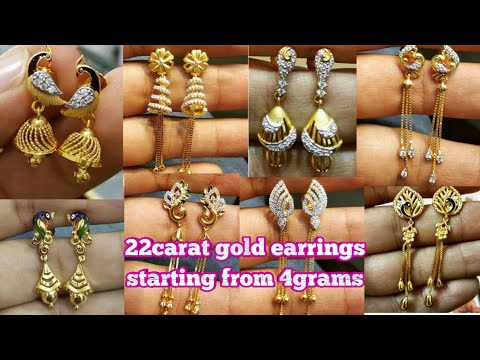 #goldearringscollection latest trendy daily wear gold earrings collection for girls/starting from4gm