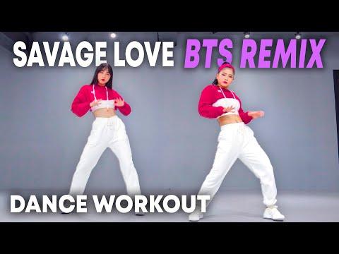 [Dance Workout] Savage Love (Laxed - Siren Beat) [BTS Remix] | MYLEE Cardio Dance Workout, Fitness